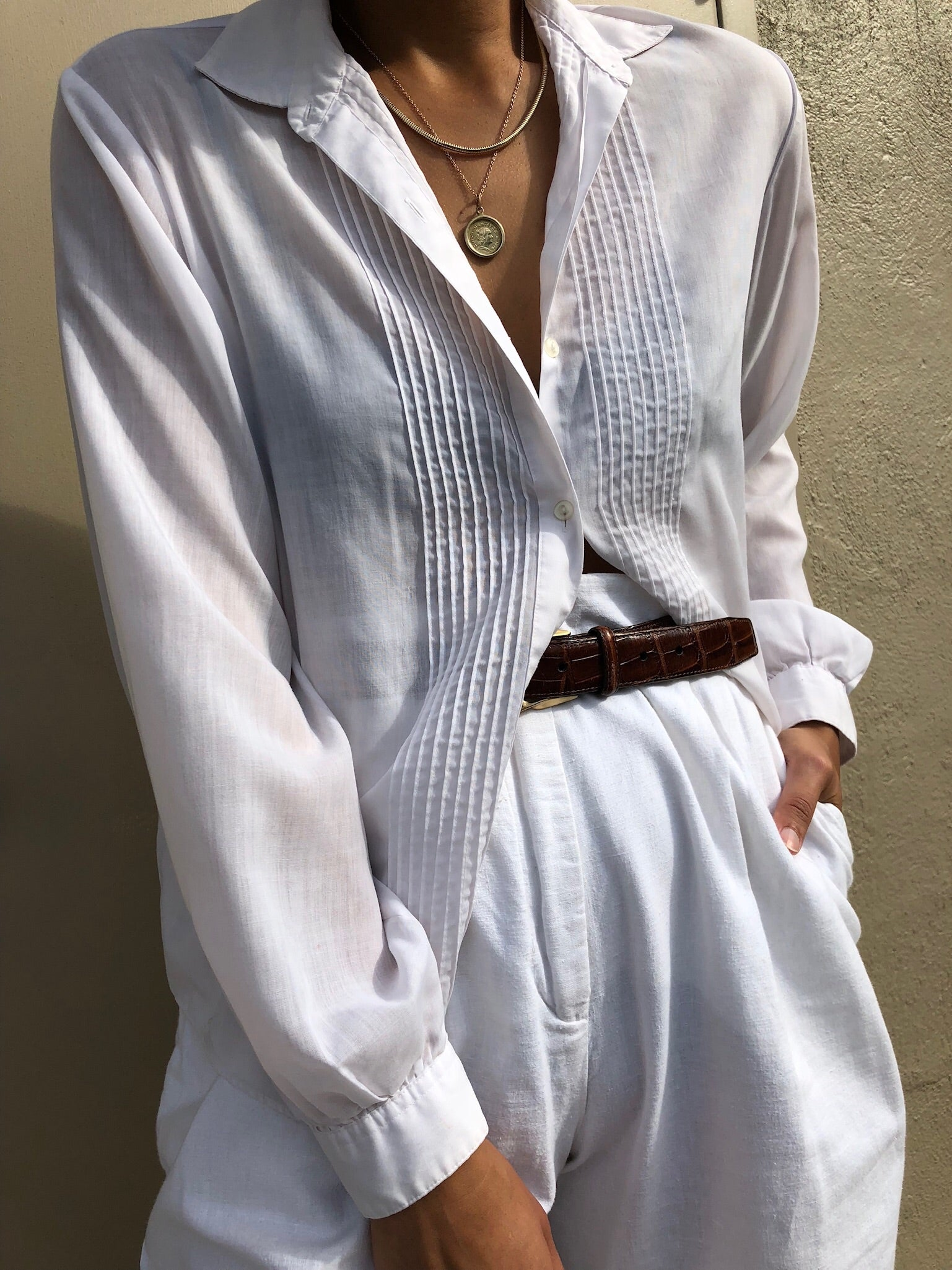 Vintage Thinnest Cotton Blouse