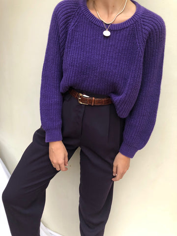 Vintage High Waisted Eggplant Trousers