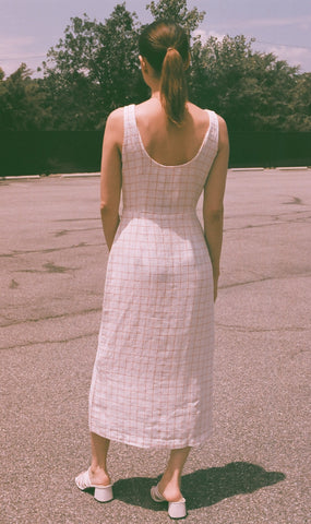 Paloma Wool Galatea Check Dress / Off-White