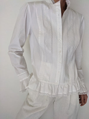 Vintage Ivory Lace Button Up