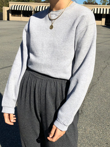 Vintage Heathered Grey Pullover
