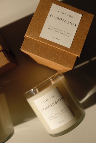 Compassion Capsule: Coconut, Santal, & Sea Salt 9oz Candle