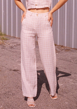 Paloma Wool Margherita Check Pant / Off-White