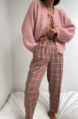 Vintage Rose Plaid Trousers