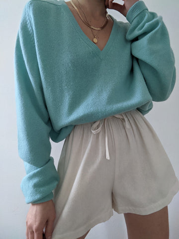 Vintage Mint Lambswool Sweater