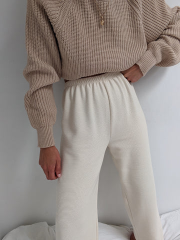 Na Nin Patricia Rippled Cotton Pant / Available in Cream