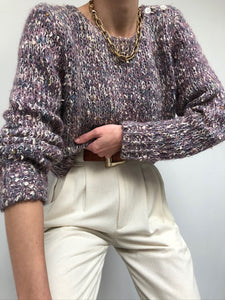 Vintage Multi Colored Speckled Sweater