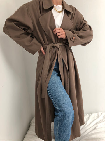 Vintage Taupe Trench Coat
