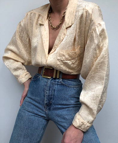Vintage Christian Dior Butter Silk Blouse