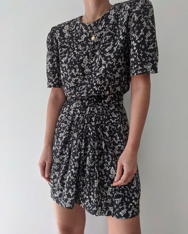 Vintage Faded Navy Floral Mini Dress