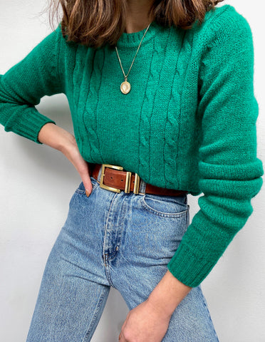 Vintage Emerald Wool Knit