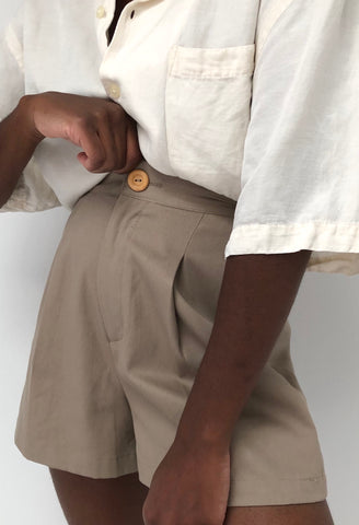Na Nin Oliver Cotton Twill Shorts / Available in Stone Khaki & Onyx