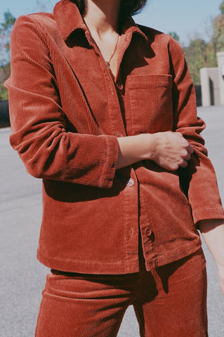 Nice Things Talla Jacket / Available in Cinnamon & Dark Navy