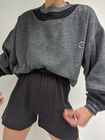 Vintage Color Block Leisure Sweatshirt