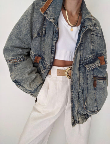 Vintage Perfectly Faded Denim Jacket