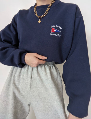 Vintage Navy Yacht Club Sweatshirt