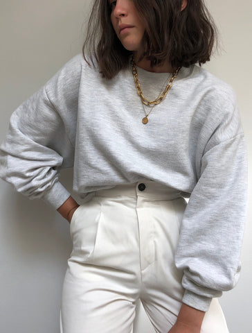 Vintage Light Heather Grey Sweatshirt