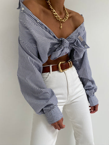 Vintage Classic Striped Button Up