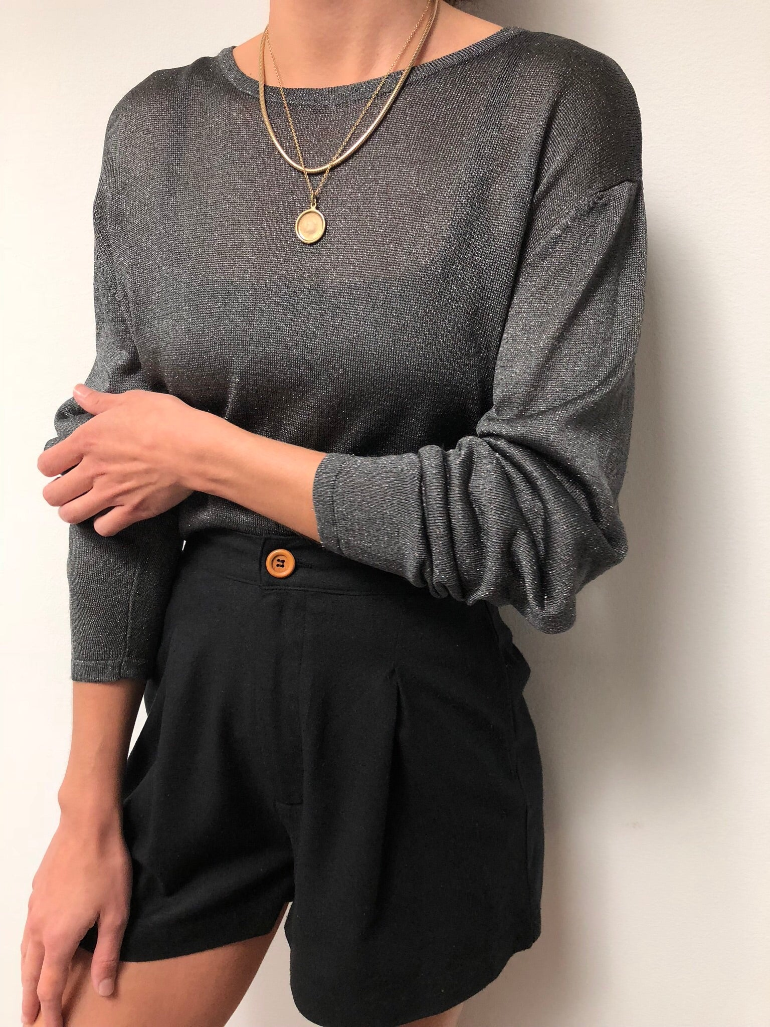 Vintage Sparkle Charcoal Long Sleeve