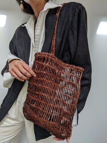 St. Agni Rada Woven Tote / Available in Antique Tan & Black