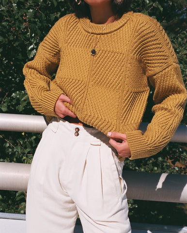 Micaela Greg Bevel Sweater / Available in Ochre & Chalk