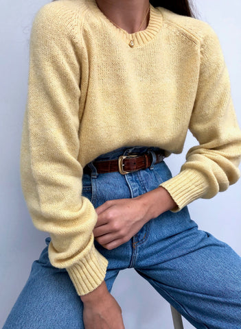 Vintage Lemon Wool Pullover