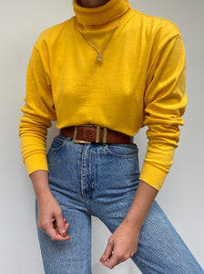 Vintage Sunflower Turtleneck