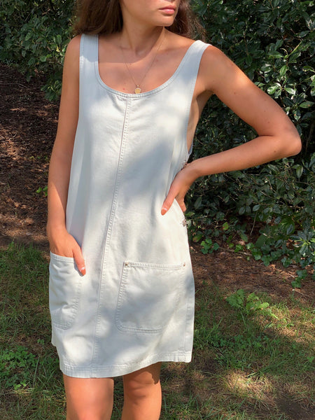 Vintage Sage Jumper Dress