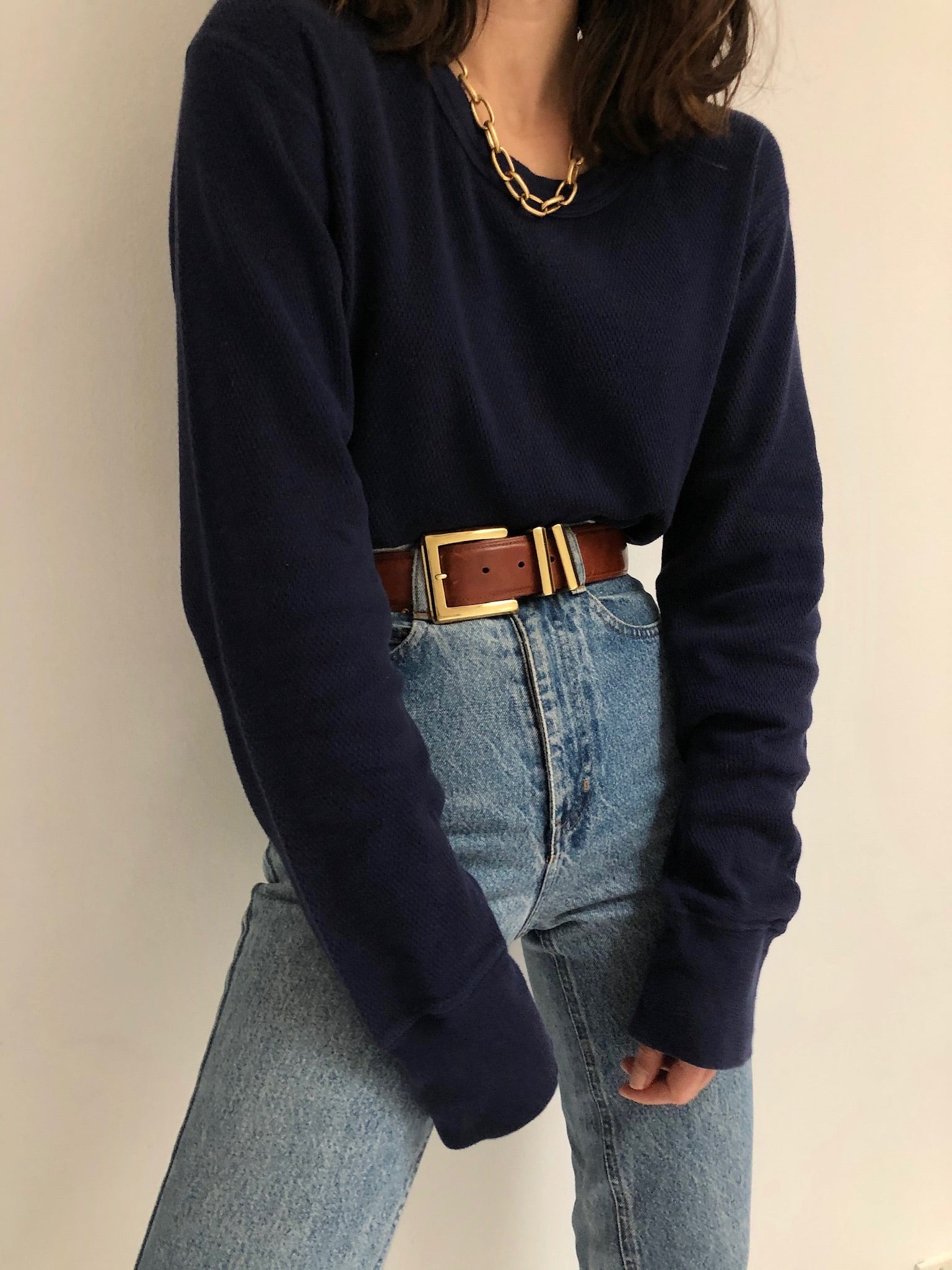Vintage Navy Thermal