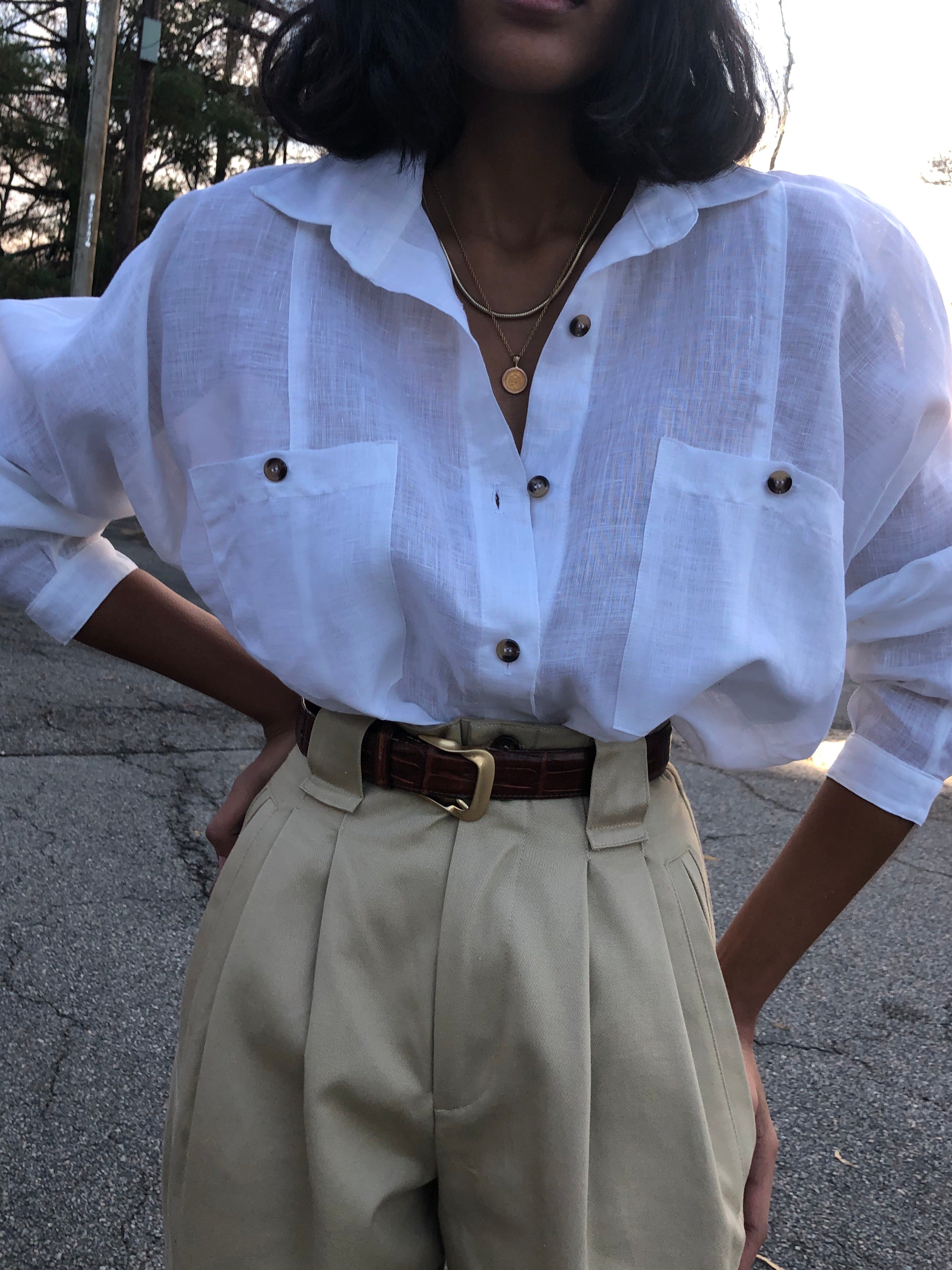 Na Nin Linen Gwen Button Up