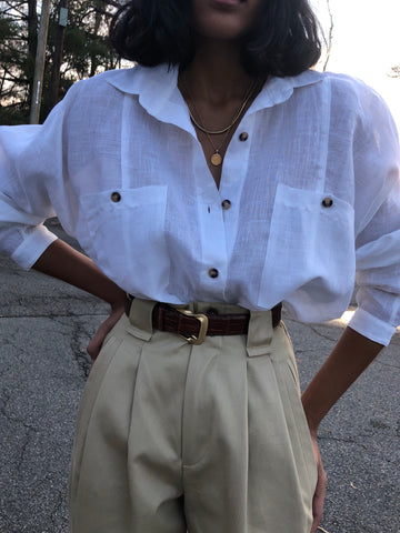 Na Nin Gwen Linen Button Up