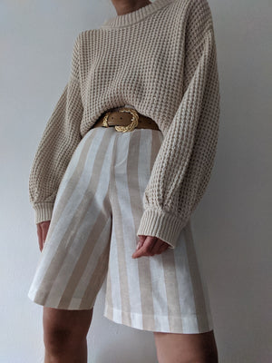 Tigre et Tigre Brookes Shorts / Striped Beige