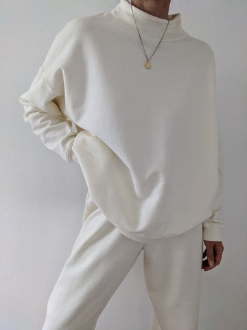 Na Nin James Cotton Mock Neck Sweatshirt / Available in Multiple Colors