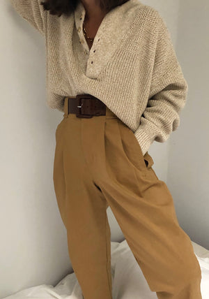 Na Nin Linen Townes Trouser / Available in White and Camel