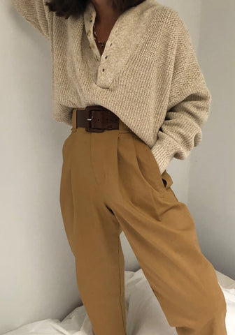 Na Nin Townes Linen Cotton Trouser / Available in White & Camel