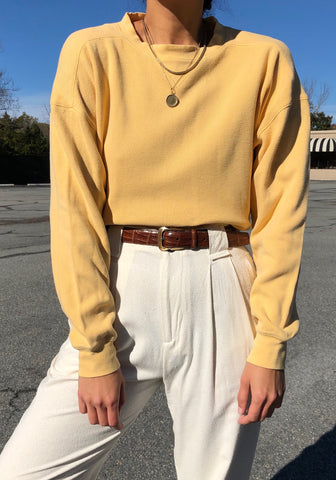 Vintage Dandelion Ribbed Cotton Pullover