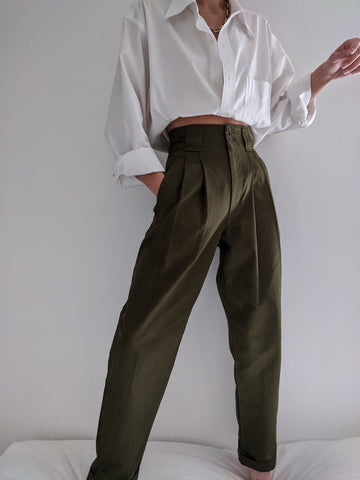 Na Nin Townes Cotton Trouser / Available in Espresso & Vine