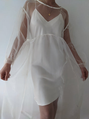 Tigre et Tigre Jayme Dress / Available in Oatmeal Organza