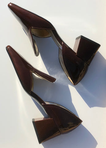 Suzanne Rae D'Orsay / Brown Patent Leather