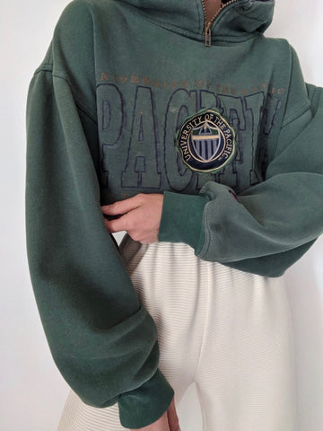 Vintage Faded Forest University of the Pacific Hoodie