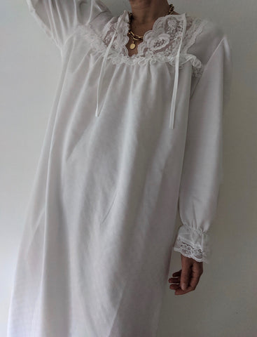 Vintage Liquid Pearl Lace Nightgown