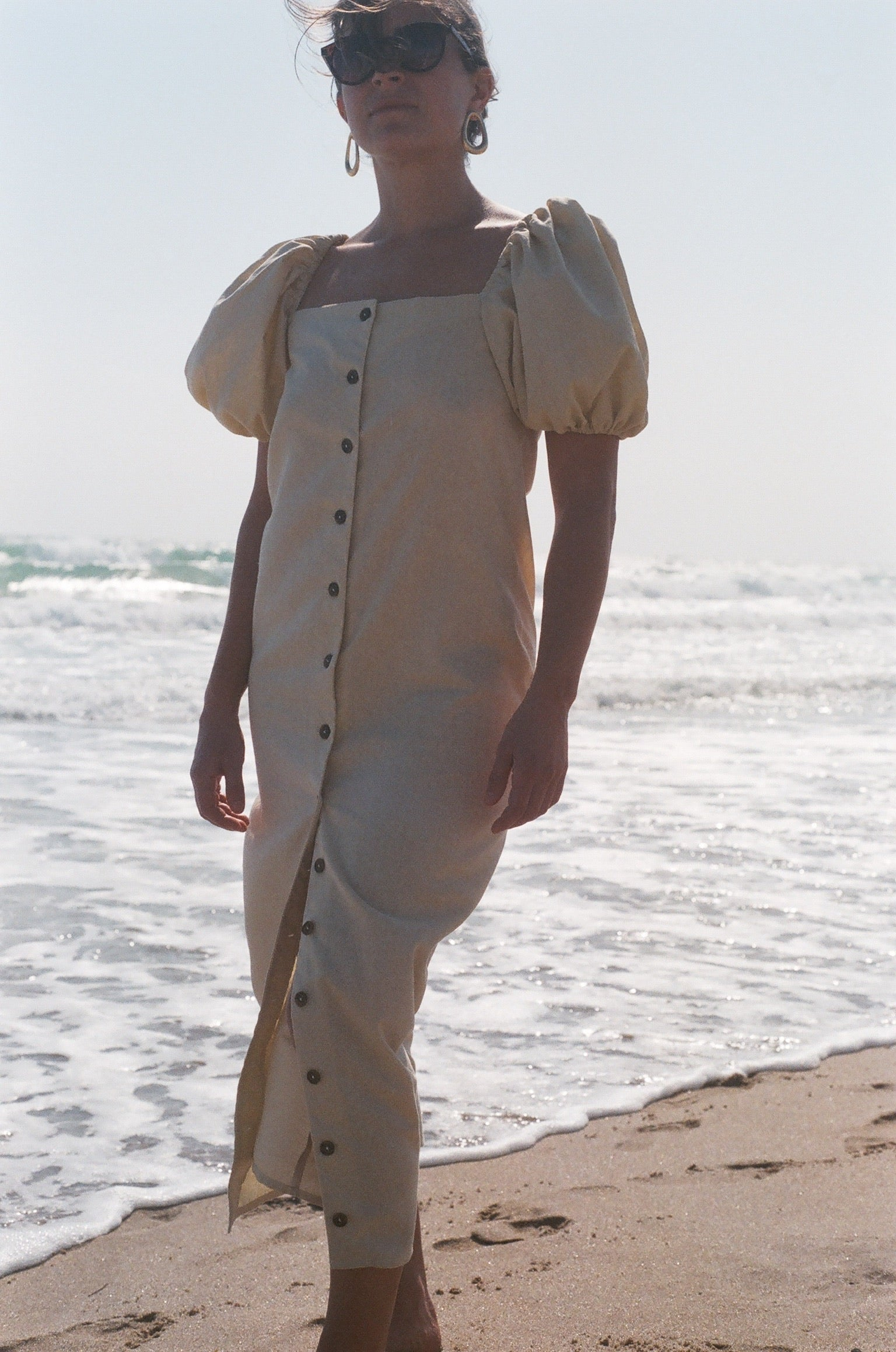 Na Nin Fiona Linen Cotton Dress / Available in Butter & Camel