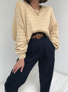 Vintage Windowpane Knit Pullover