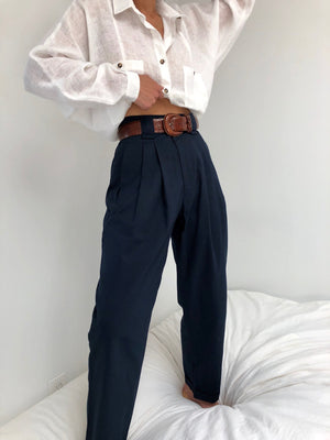 Na Nin Cotton Townes Trouser / Available in Onyx, Navy, and Stone Khaki