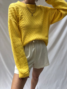 f07bda325 Vintage Lemon Cotton Patterned Pullover – NA NIN