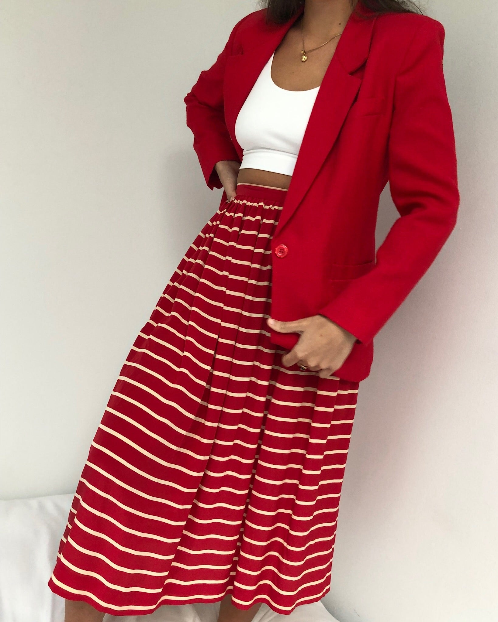 Vintage Cherry Textured Blazer
