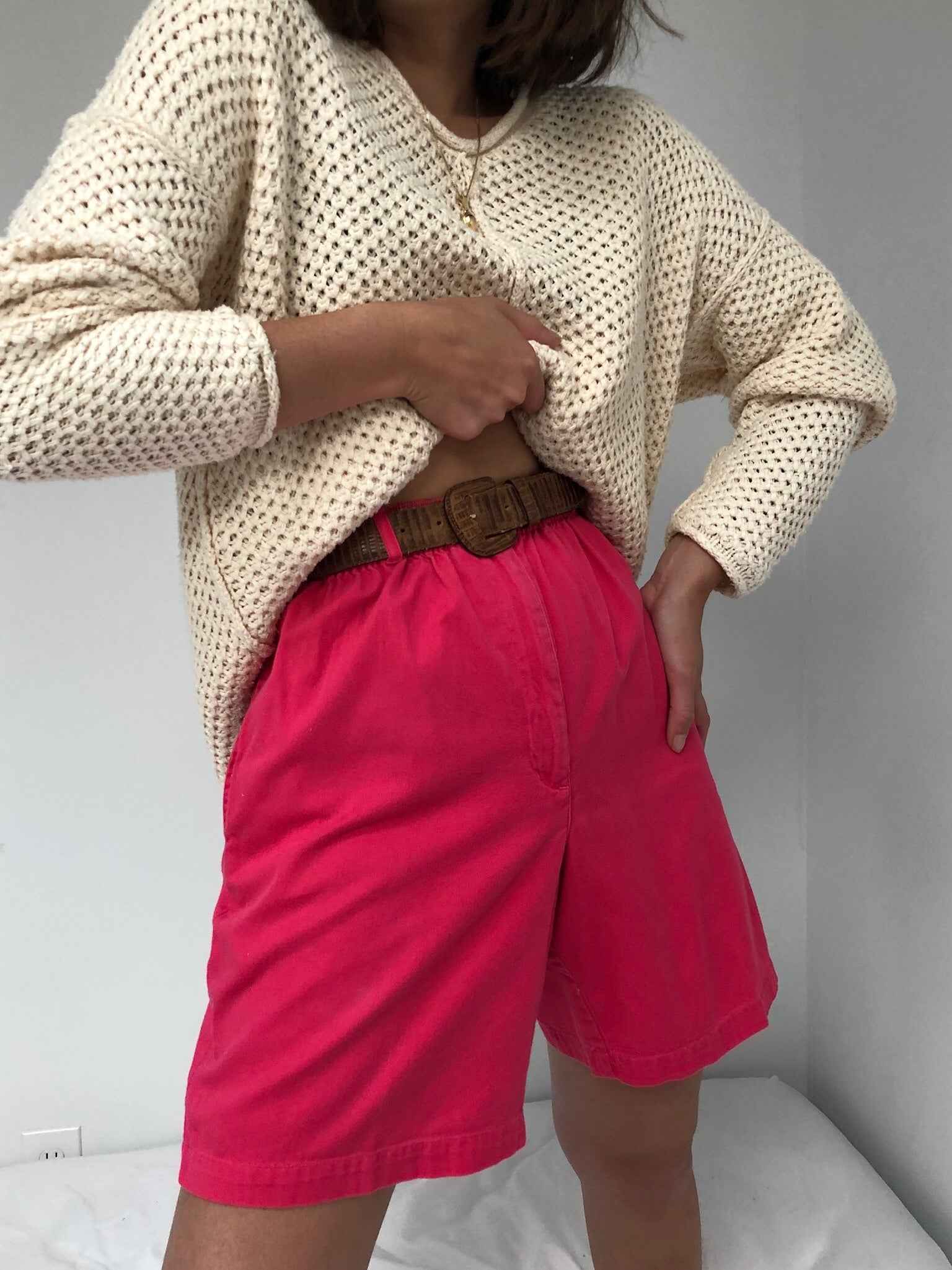 Hibiscus Button Shorts