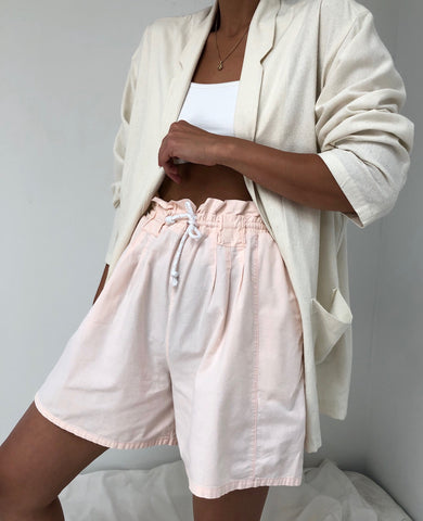 Vintage Blush Drawstring Shorts