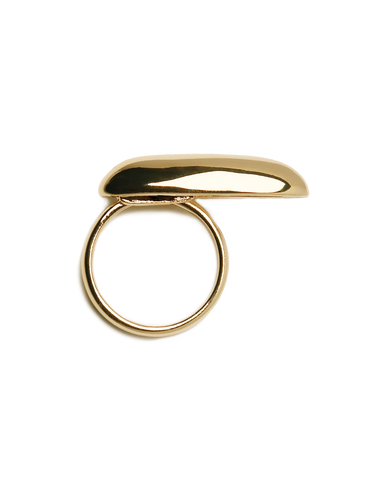 Common Muse Ines Elongated Ring / Available in Gold & Silver