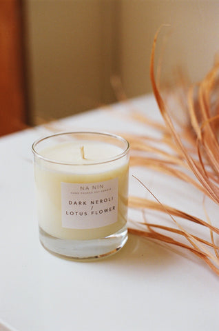 Dark Neroli & Lotus Flower Candle / Available in Multiple Sizes